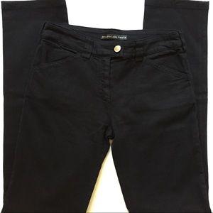Balenciaga Pants Women's Black Straight Leg Jeans